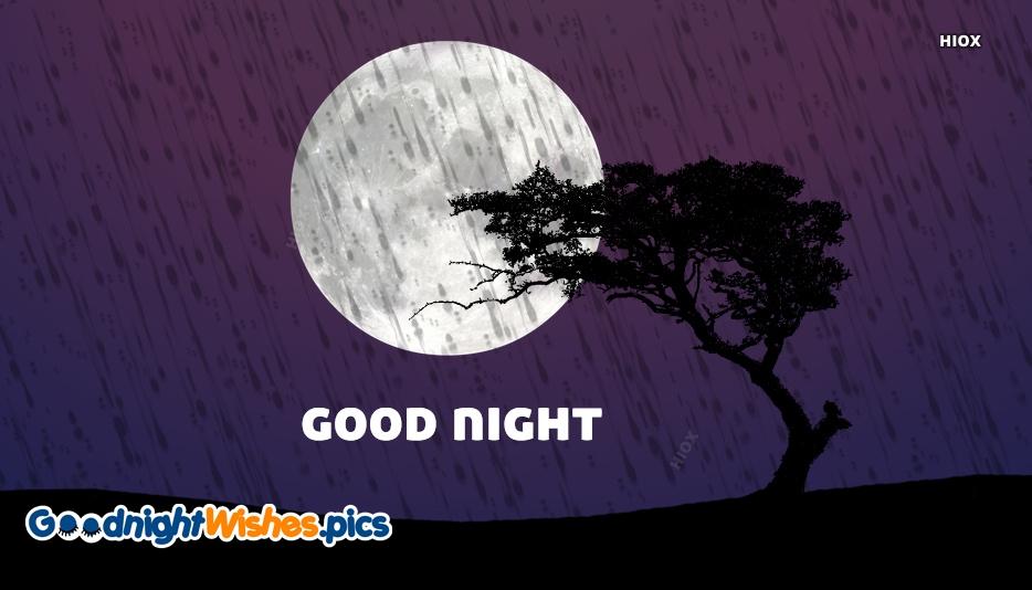 Good Night With Rainy Day