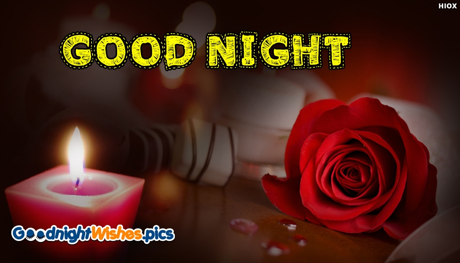 Good Night Images with Red Roses
