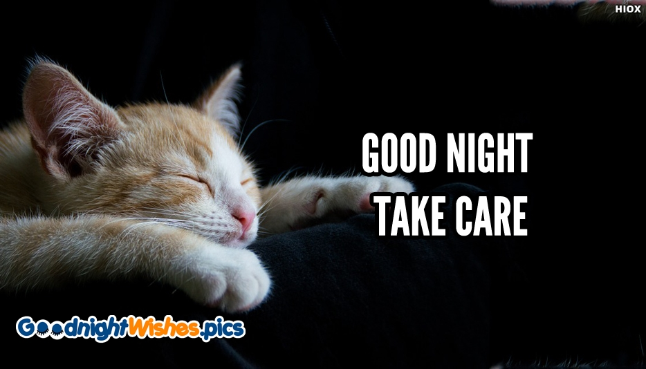 Good Night With Take Care - Good Night Wishes for Cute