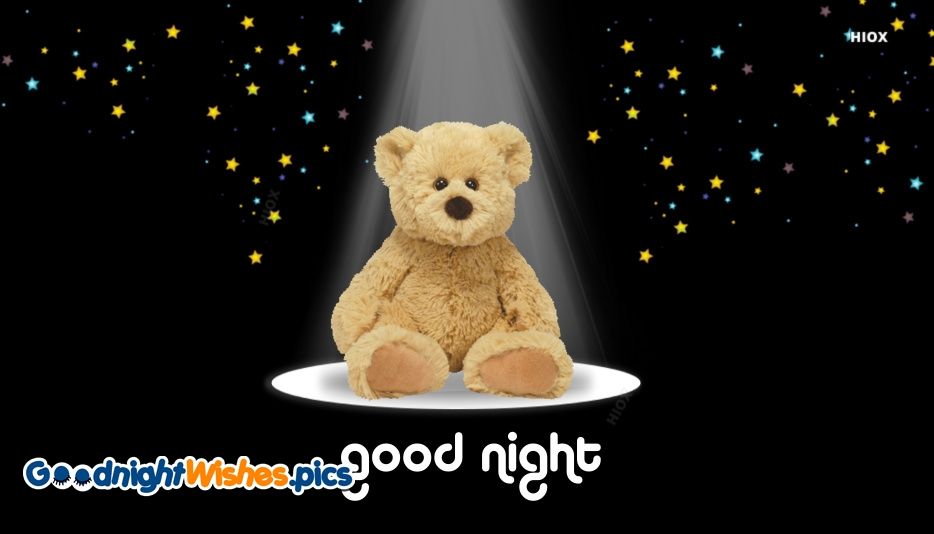 Good Night With Teddy Bear