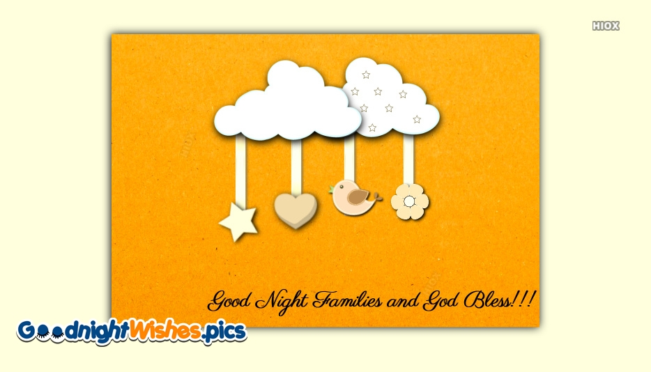 Good Night Wishes with Blessings