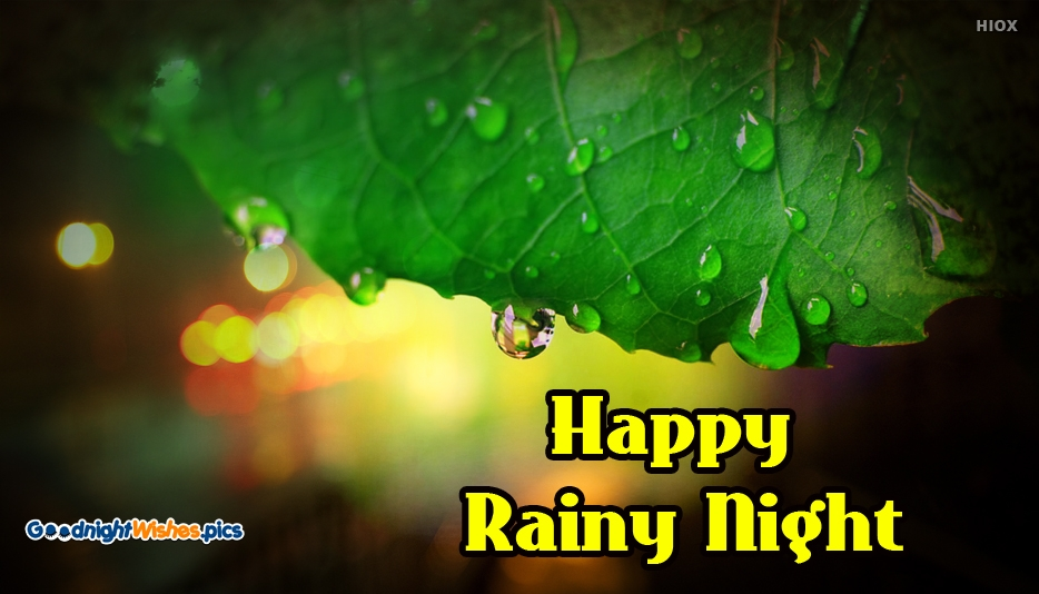 Happy Rainy Night - Good Night Wishes for Whatsapp