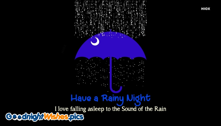 Happy Rainy Night Quote
