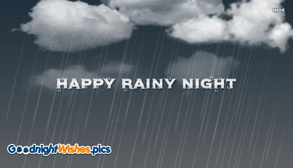 Happy Rainy Night Wallpaper