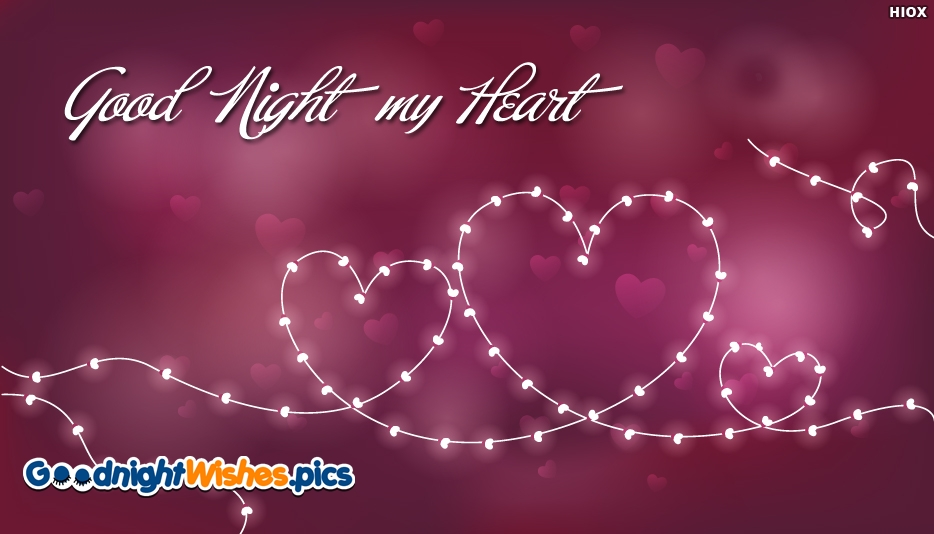 Love Heart Good Night Wallpaper : Heart Good Night Wallpaper Image @ GoodNightWishes.Pics