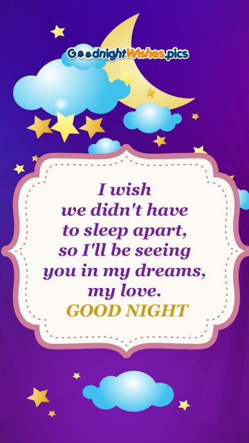 Good Night My Love Heart Touching Quotes