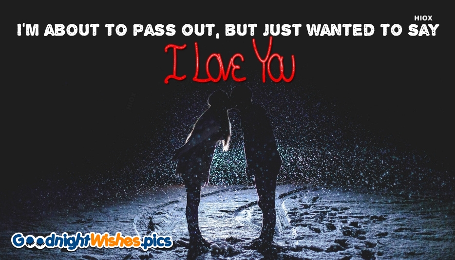 I Wanted To Say I Love You. Good Night Wishes