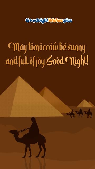 May Tomorrow Be Sunny and Full Of Joy. Good Night!