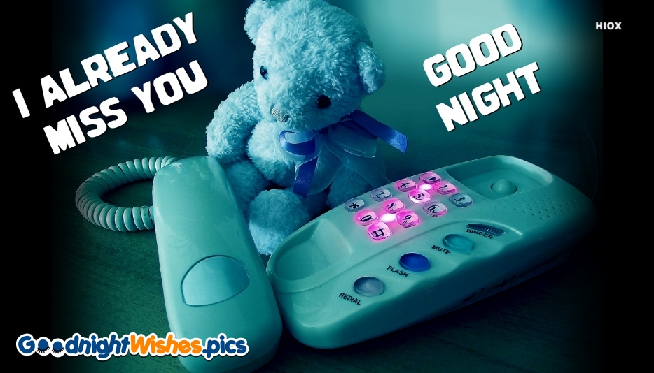 Miss You and Good Night Love Message