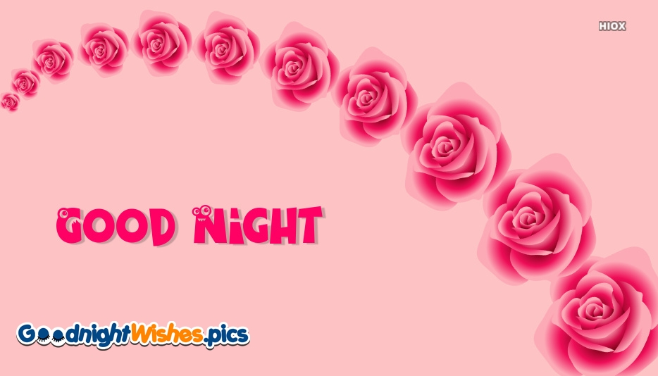Red Rose Wallpaper With Good Night