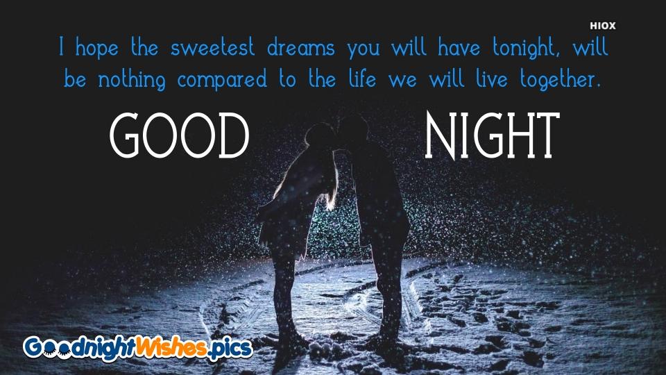 Romantic Good Night Wishes Image