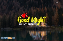 Good Night All My Friends Background