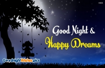 Good Night And Happy Dreams