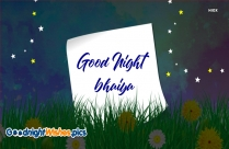 Good Night Sms For Bhaiya