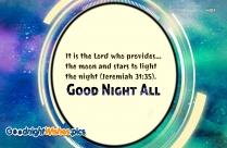 Good Night Bible Verse