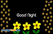 Good Night Flower Gif