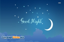 Good Night Wallpaper With Moon