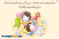 Good Night Love Feelings Message