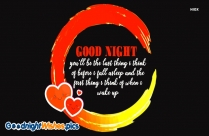 Good Night Love Thoughts Image