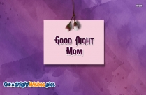 Good Night Mom Card
