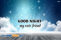 Good Night My Cute Friend