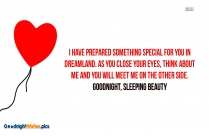 Good Night Darling Quote For Girlfriend