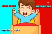 Good Night Sleeping Boy