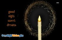 Good Night Sweet Dreams Candle