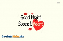Good Night Sweet Dreams Heart Shape