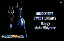 Good Night Sweet Dreams Mahashivratri