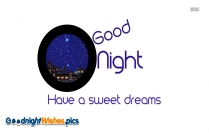 Good Night Sweet Dreams Message