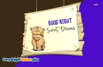 Good Night Wallpaper with Teddy Bear