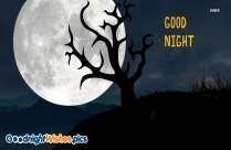 Good Night Text Wallpaper Background