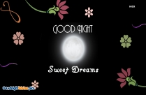Good Night Card With Fruits