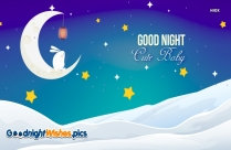 Good Night Wishes Cute Baby