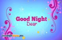Good Night Wishes Dear