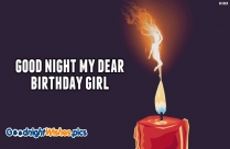 Good Night Wishes For Birthday Girl