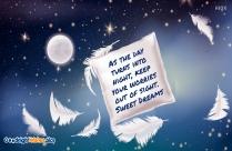 Good Night With Miss U Message