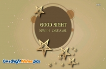 Good Night Wishes Sweet Dreams