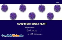 Good Night Wishes To My Sweetheart