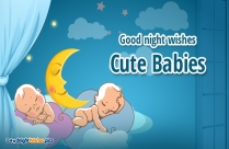 Good Night Wishes With Babies
