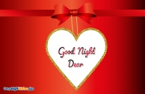 Good Night Wishes With Heart