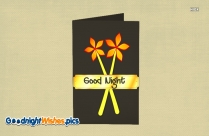 Good Night Wishes Flower