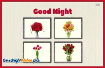 Good Night With Flower Picture