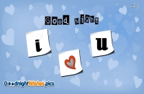 Good Night With I Love U
