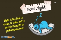Good Night With Life Quotes