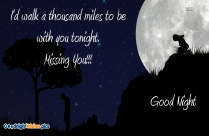 Romantic Good Night Wishes Image