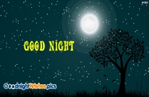 Good Night With Moon Background