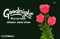 Good Night Wishes With Red Roses