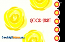 Good Night With Flower Clipart
